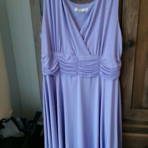 Lilac or lavender or iris colored ruffled dress